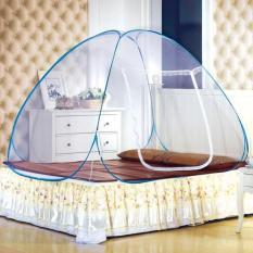 Kelambu Tidur Tenda Kelambu Kasur Lipat Anti Nyamuk 180 X 200 Cm - Biru