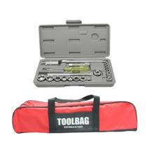 Kenmaster Kunci Sok - 21 Buah + Kenmaster Tool Bag Jumbo - Merah-Hitam
