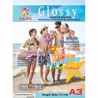 Kertas Foto - SUN Glossy Photo Paper A3 Single Side 210 Gsm - NextGeneration Photo Paper