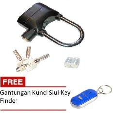 Kinbar Gembok Alarm Super Kuat - Original - Ring Panjang 1Pcs + Gratis Gantungan Kunci Siul Key Finder