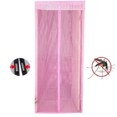 Kokakaa Magic Mesh Tirai Pintu Magnetic Anti Nyamuk & Serangga - Pink