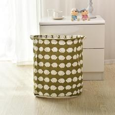 Large Laundry Hedgehog Clothes Water Proof Cotton Linen Storage Basket Foldable Cartoon Bathroom Barrel With Handle - Intl