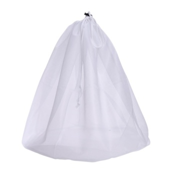 Laundry Bag Clothes Washing Machine Laundry Bra Fine Structure MeshBag(White)-L - intl
