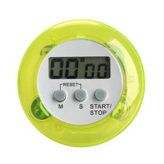 Round Magnetic LCD Digital Kitchen Countdown Timer Alarm With Stand Green
