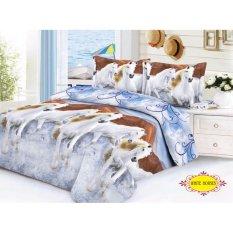 Lidia Bed Cover + Sprei SET 120x200x20 No.3 Single Size - White Horses