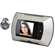 Linemart LCD Night Vision Home Security Door Viewer Camera Grey (Intl)