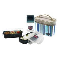 Lock&Lock Lunch Box Set HPL754RB - Biru