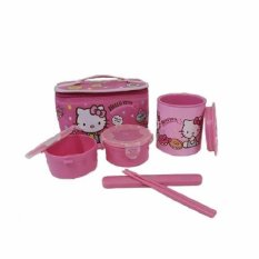 Lock&Lock Set Tempat Makan Hello Kitty HKT380LP (Pink)