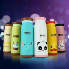 Lucky - Botol Minum Termos Karakter Animal Stainless Steel - Random Color - 1 Pcs