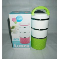 Lunch Box Stainless 3susun Polkadot