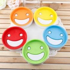 LZ 1 Pcs Double Layer Smile Face Drain Soap Box Plastic Creativebathroom Soap Dish Soap Tray - Intl