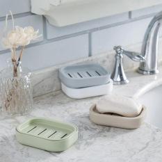LZ 1 Pcs Thicken Drain Soap Box Plastic Creative Soap Dish Soaptray (Light Green) - Intl