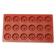 LZ 18-Cavity Donut Doughnut Baking Mold Cake Chocolate Cookie Candymould Silicone - Intl