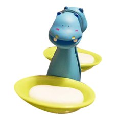 LZ Animal Adhesion Soap Holder Hippopotamus - Intl