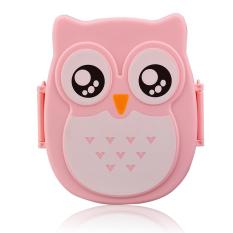 LZ Kids Adults Owl Style Lunch Box Food Container Storage Box Portablebento Box Pink - Intl