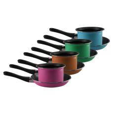 Maspion Pastela Set Panci Susu 14 cm + Fry pan 20 cm - Multicolor