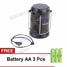 Maxxio Lampu Camping Solar AA Battery Bundle - Black