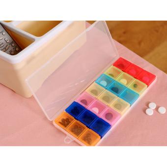 Medicine Weekly Storage Pill 7 Day Tablet Sorter Box Container Case Organizer