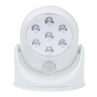 MEGA 7 White Auto PIR IR Infrared Motion Security Light Wireless Sensor