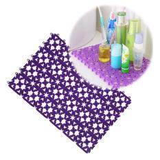 MEGA Bathroom Shower Room Floor Mat Rug Anti Slip Plastic Multicolor (Purple) - Intl