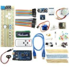 MEGA2560 BreadBoard Advance Kit With Sensors / Servo Motor / LCD Display / Tutorial For Arduino (140pcs)