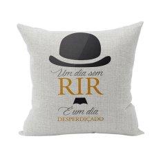 Modern Style Hat Words Face Home Sofa Room Decor Cushion Cover Cotton Linen Throw Pillow Case