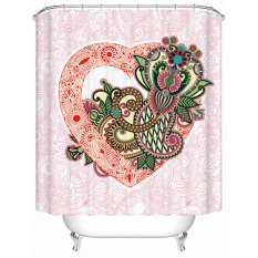 Modern Style Shower Curtains Fashion New Flowers Printed Bathroom Waterproof Fabric Shower Screen With Hooks W180CM X H200CM
