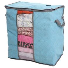Moonar Foldable Transparent Window Compact Storage Bag For Clothing Quilt Large Size Blue