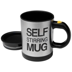 Moonar Stainless Lazy Self Stirring Mug Auto Mixing Coffee Cup (Black)