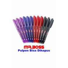 MR. BOSS Erasable Pen 0.7 mm Tinta Hitam (Pena Bisa Dihapus)