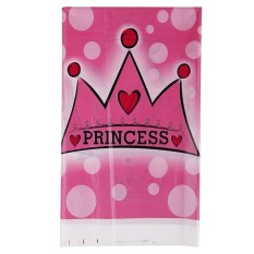 Multi Color Dots PE Catoon Table Cover For Birthday Wedding Decoration Large Size Crown + Pink (Intl)