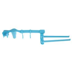 Multi-purpose Rotatable Plastic Towel Rack (Blue)