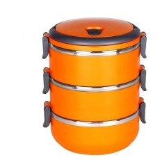 Murmer Shop Lunch Box Rantang Susun Dengan Kunci Pengaman - Orange