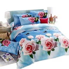 New 3D Printing 4pcs Bedding Sets King Size 2 Pillowcases / Bed Linen / Duvet Cover Set