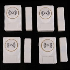 New 4 Pcs Wireless Home Door Window Security Burglar Intruder Thief Alarm