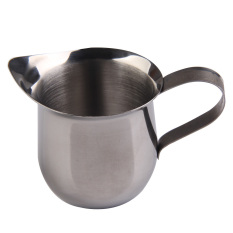 New Stainless Steel Coffee Shop Small Milk Cream Waist Shape Cup Jug 8 OZ