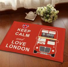 New Vintage London Style Car Carpet Floor Mat For Bath Flannel Anti-slip Custom Door Mat For Living Room