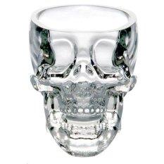 NiceEshop Fantastic Creative Crystal Skull Face Glass Cup For Vodka Wine