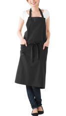 NICESHOP Brief Sleeveless Polyester Apron With 2 Front Pockets Fashion Kitchen Apron For Women (Black)