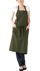 NICESHOP Brief Sleeveless Polyester Apron With 2 Front Pockets Fashion Kitchen Apron For Women (Green)