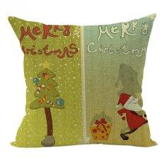 Nunubee Pillowcase Cotton Linen Home Square Pillow Decor Throw Pillow Case Sofa Cushion Cover Green 1