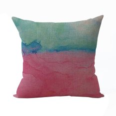 Nunubee Soft Warm Cotton Pillowcase Bed Sofa Cushion Cover Square Decorative Home Pillowcase Pink Gift - Intl