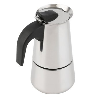 OH 4-Cup Percolator Stove Top Coffee Maker Moka Espresso LatteStainless Pot Silver