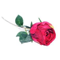 OHOME Setangkai Bunga Mawar Artificial Hiasan Dekor - AN-B000357MM - Merah Marun