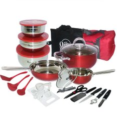 Oxone OX-993 33Pcs Panci Travel Cookware Set