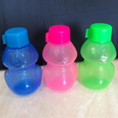 PADIE - Botol Minum Plastik 3 pcs gambar KEROPY 350 ml / tempat air minum anak