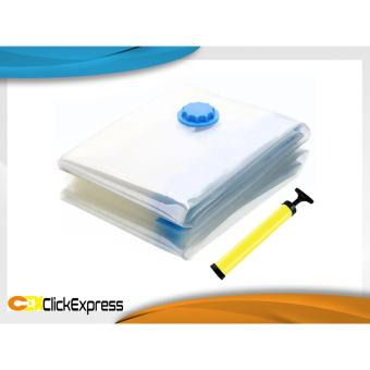 Paket Hemat Vacuum Bag Set Plastik Press Isi 6 Free Pompa