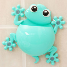 PAlight Cartoon Gecko Bathroom Wall Sucker Toothbrush Holder (Blue)