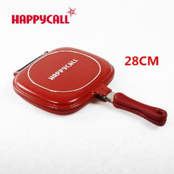 PANCI HAPPYCALL PALING MURAH - HAPPYCALL GRILL PAN 28CM [Red]