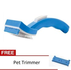 Pet Mate Sisir Binatang Peliharaan Petzoom Grooming Brush